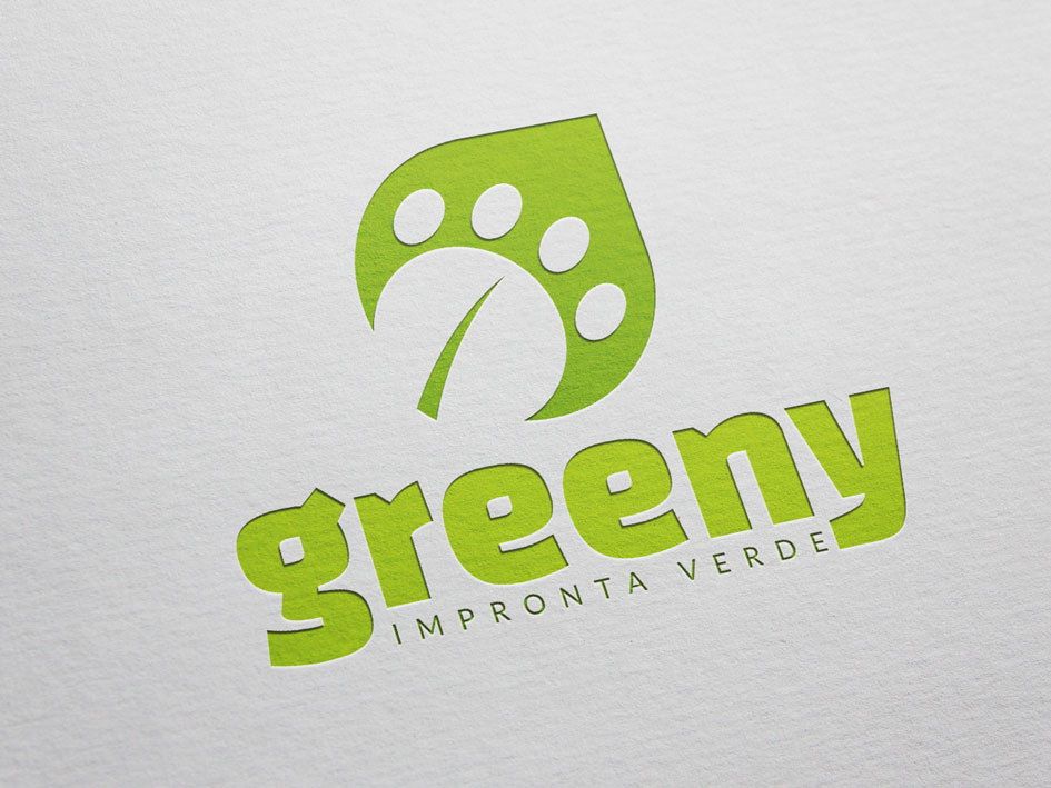 Green Hub Factory - logo e payoff Greeny